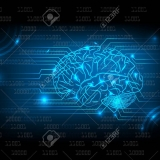 Abstract electric circuit brain,tecnology concept
